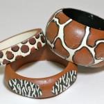 Hand painted animal print DIY bangles