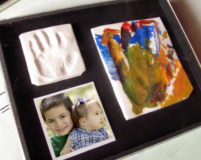 make a handprint keepsake