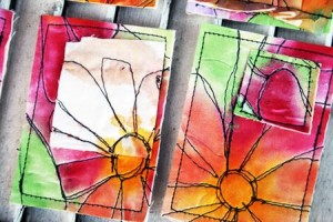 Julie Fei-Fan Balzer fabric ATCs
