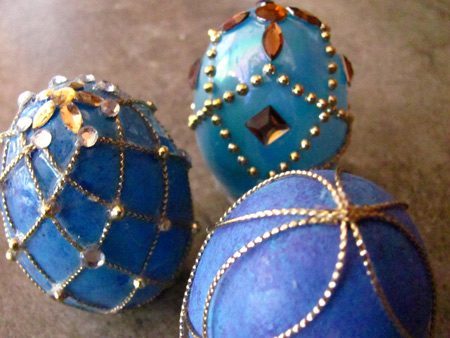 making faux faberge eggs