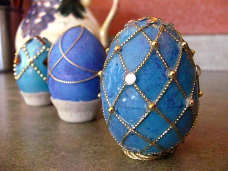 faux faberge eggs by Jen Goode