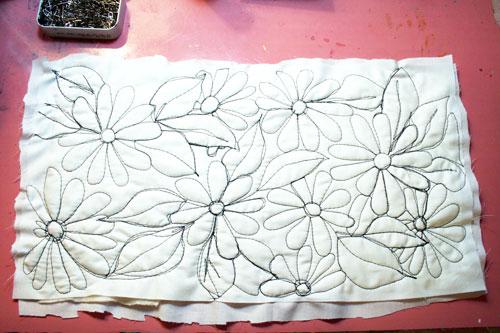 freestyle stitching on fabric