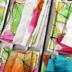watercolor on fabric ideas