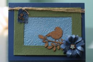Embossed cardstock  card