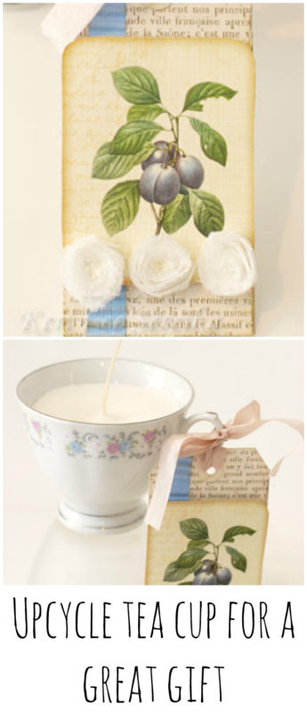 upcycled tea cup gift