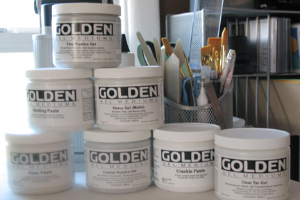 how to use acrylic gel mediums and molding pastes