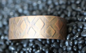Embossed Copper Bangle