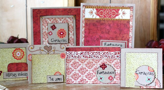 Spanish greeting card set using duetica.com