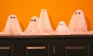 Halloween gauze ghosts