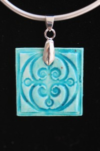 Faux Ceramic Tile  Pendant