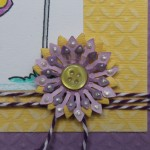 Die-namics Flower detail with Buttons Galore and Lumiere 3d paint