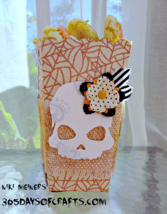 Halloween Skull Candy Popcorn box