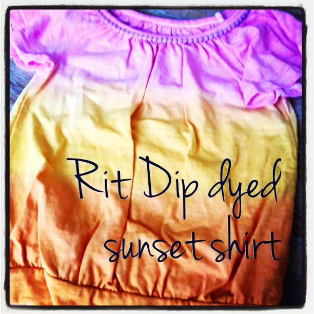 DIY Rit Dip Dyed Sunset T-shirt ombre style shirt kids craft