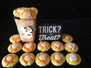 Candy Corn Cookies and Halloween treat box by 365daysofcrafts.com