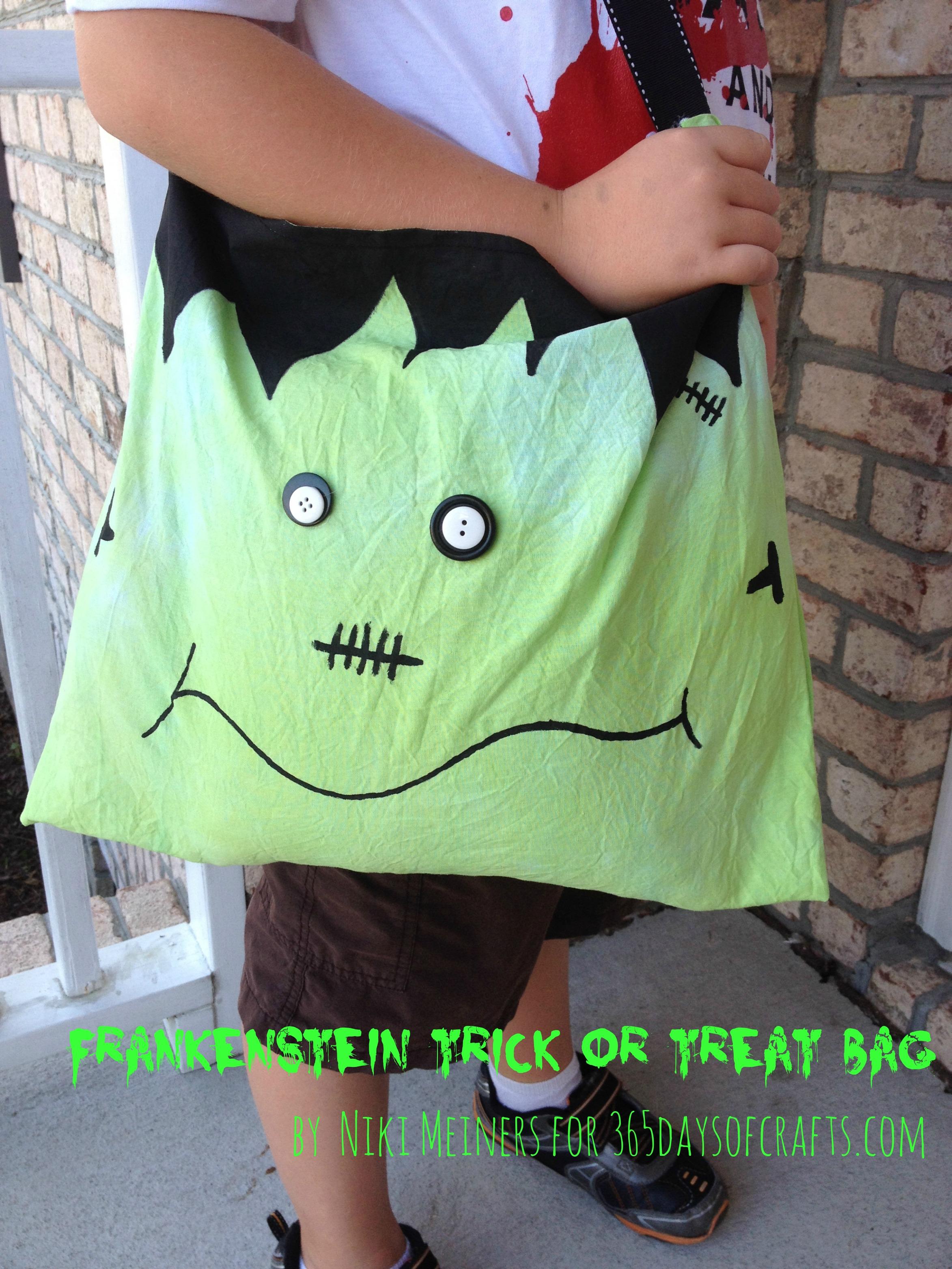 sewn dye crafts, halloween treat bags