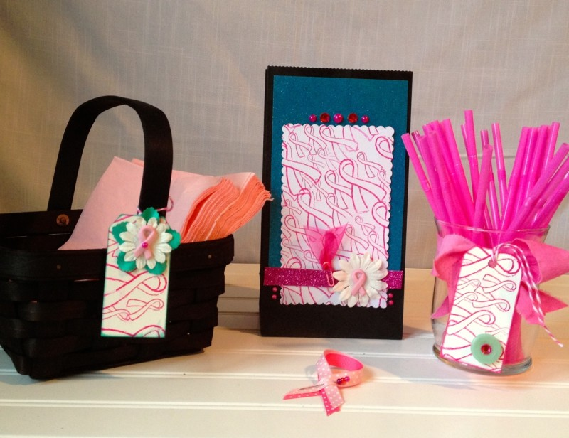 Pink ribbon of hope party decorations BCA