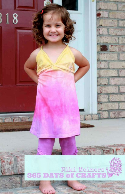 Rit dyed Rainbow outfit for Todller