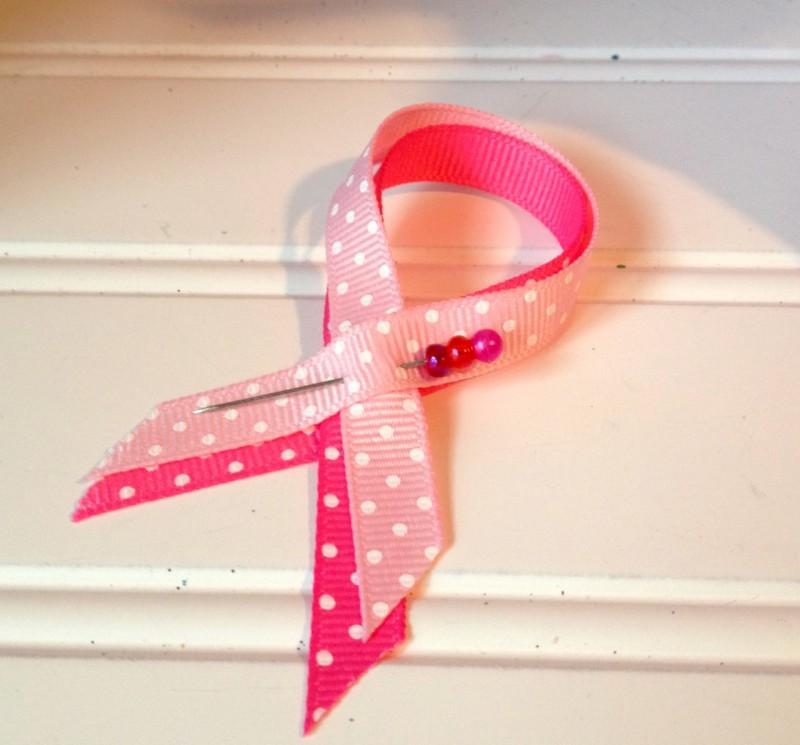 easy pink ribbon of hope pin BCA