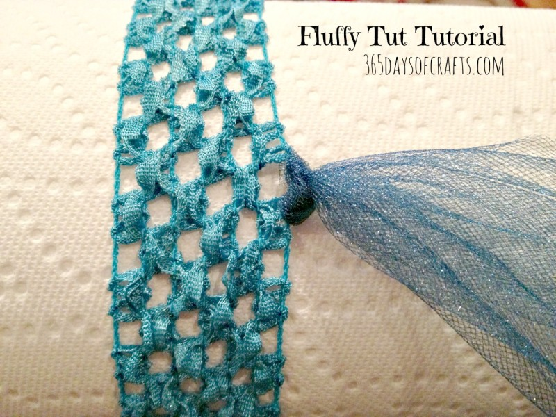 fluffy tutu tutorial step one