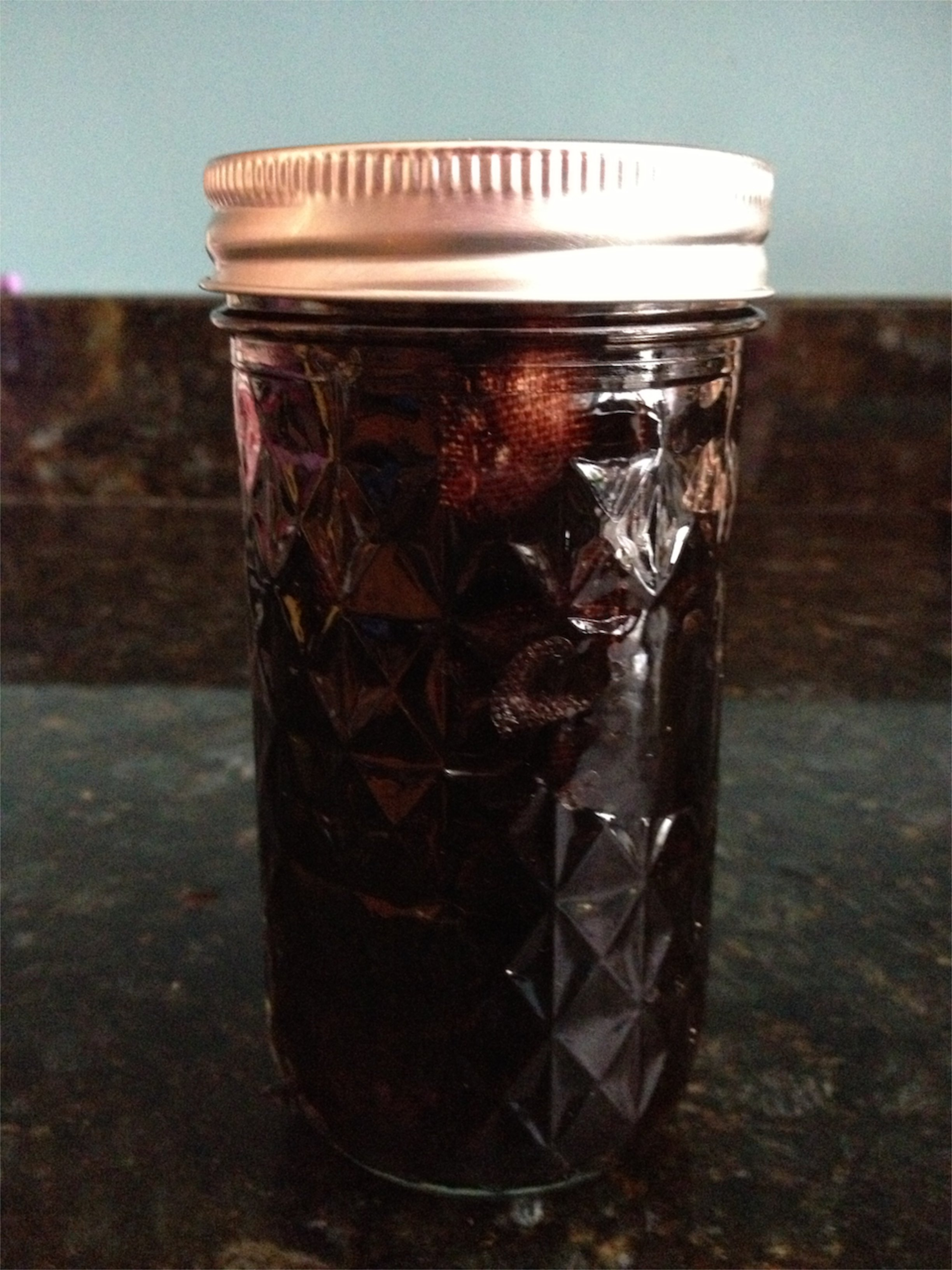 dye fabric in a jar with rit liquid dye