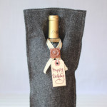 handmade felt wine bag easy sew