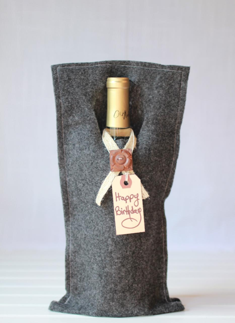 handmade felt wine bag easy sew