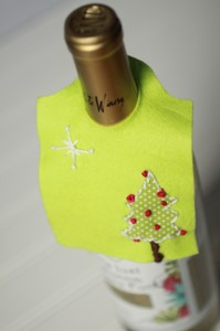 homemade wine bottle gift tag