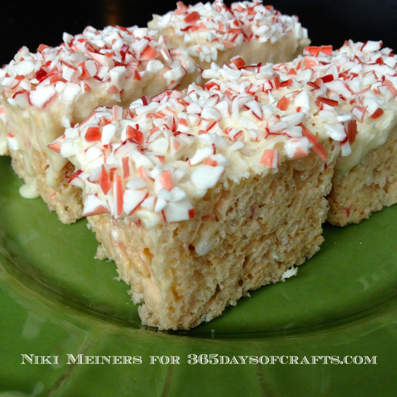 peppermint white chocolate cheesecake rice krispy