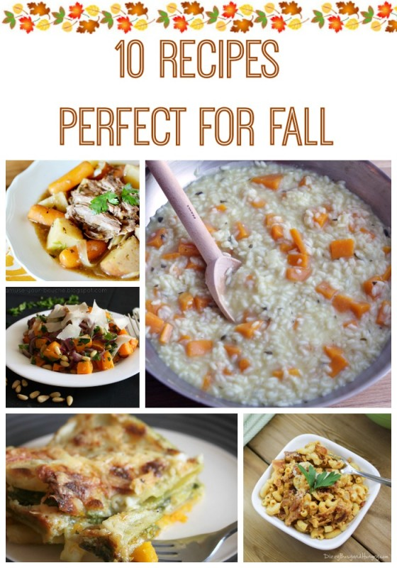 With the feeling of fall in the air, it is the perfect time to try out one of these 10 fall recipes.
