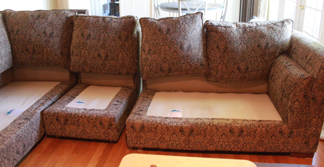 saggy sofa all cushions removed