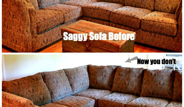 saggy sofa make over collage