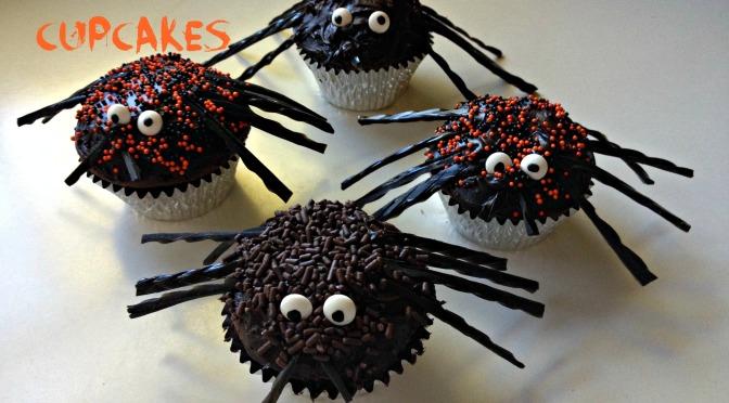 spider cupcakes set 1