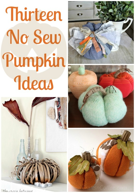 I definitely want to try a few of these 13 No Sew Pumpkin ideas. So many great ideas.