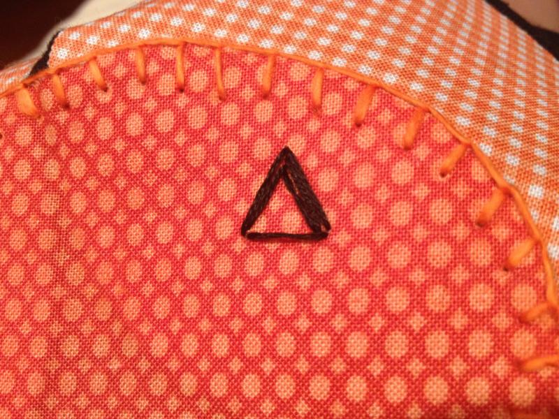 blanket stitch pumpkin