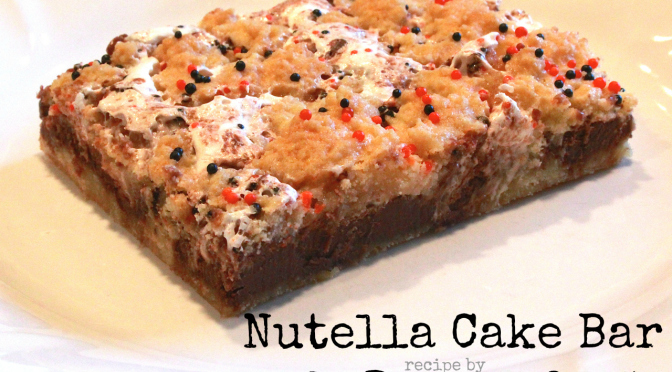 Nutella Cake Bar with marshmallow