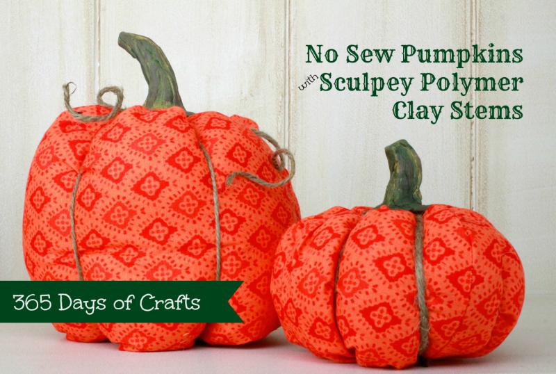 Thirteen no sew pumpkin ideas 365 days of crafts for Pumpkin stems for crafts