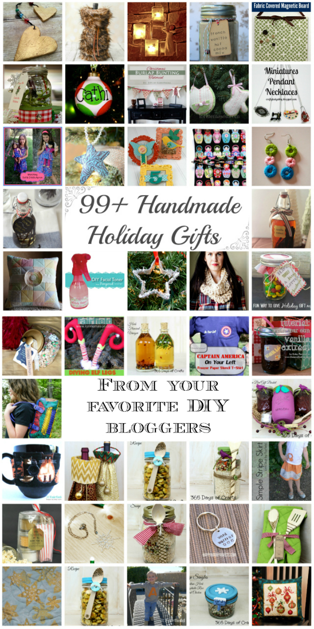 99 Handmade Holiday Gifts from your favorite DIY bloggers