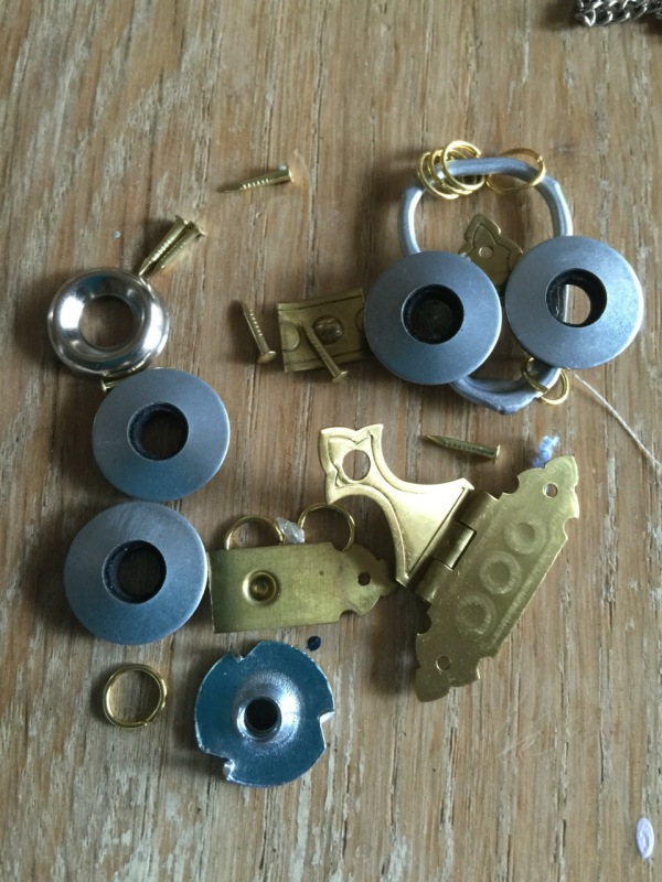 misc pieces to make jewelry owl