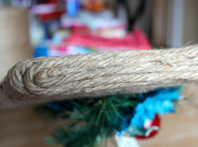 finish of the ends with a jute coil