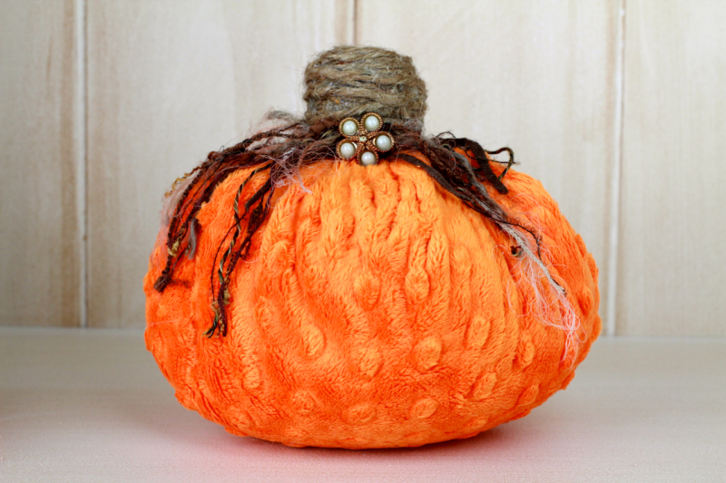 Single cuddle fabric pumpkin Minky fabric Pumpkins