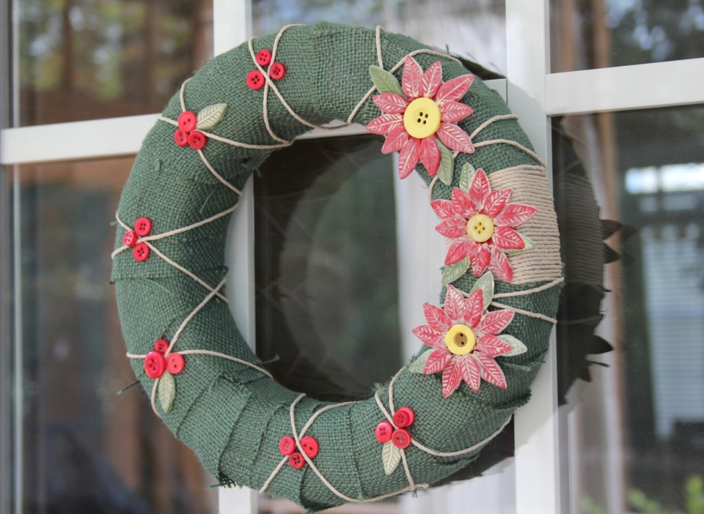 Country chic christmas wreath for Country chic christmas