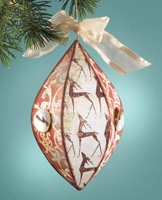 Decoupages Ornaments tear drop