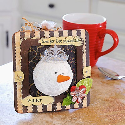 Hot Cocoa Carrier Gift front recycled craft tutorial
