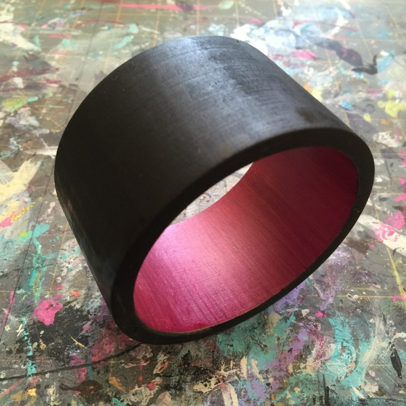 apply clear coat to wood bangle