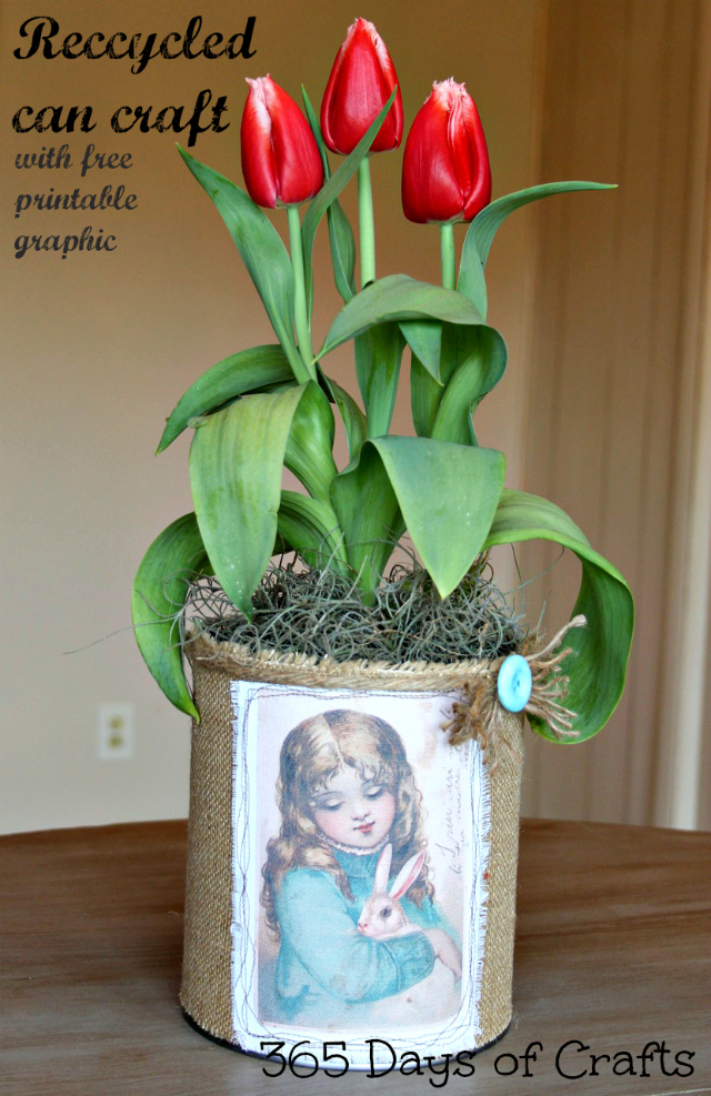 recycled can craft for easter
