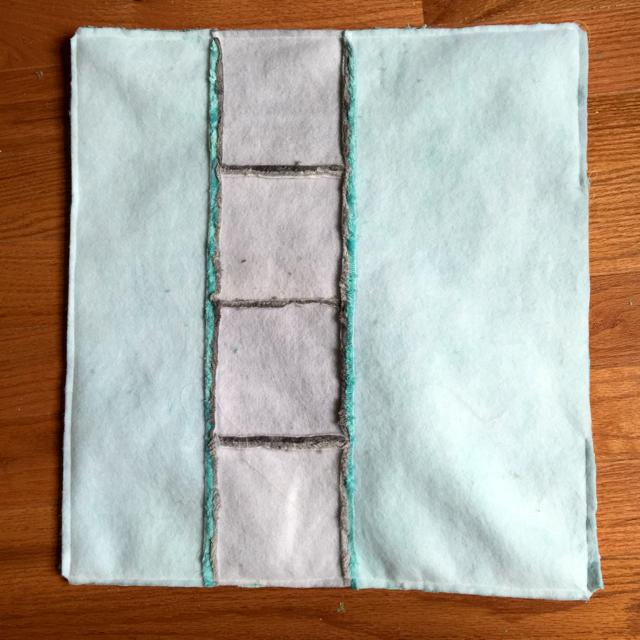 grey and aqua pillow tutorial