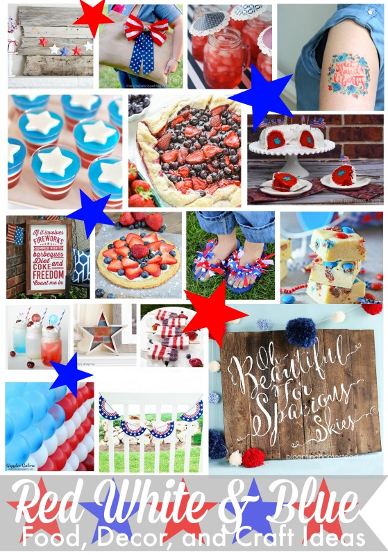 4th of july party decorations 365 days of crafts diy art - Red white and blue party ideas ...
