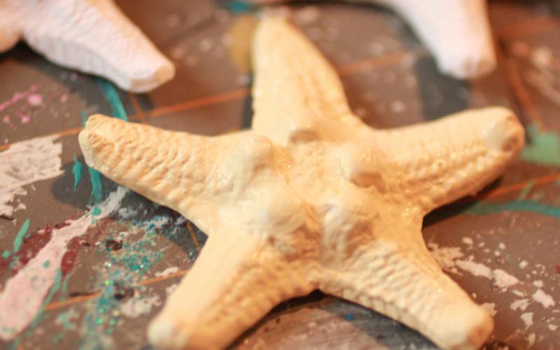 buttermilk paint on starfish