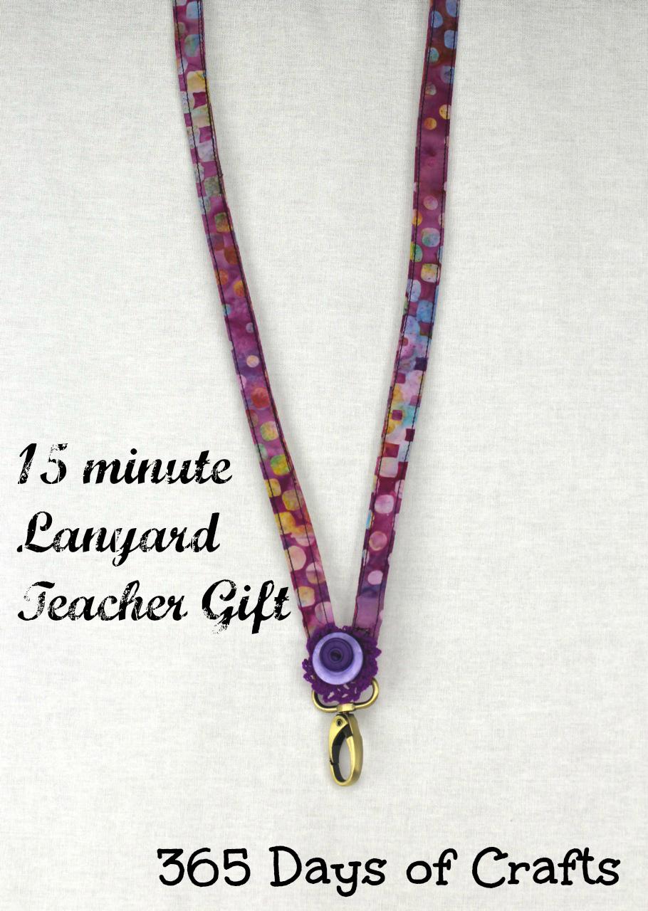 easy sew gift idea 15 minute teachers gift lanyard 2