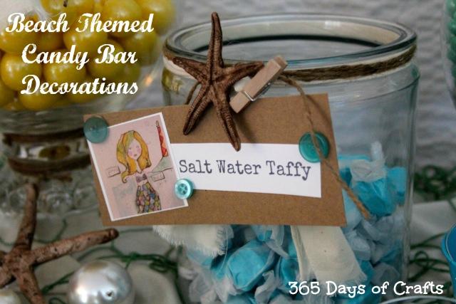 Beach Themed Candy Bar Decorations taffy